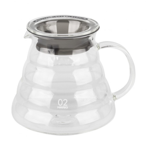 Carafe Hario V60 en verre - 1 à 4 tasses